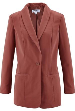 Bpc Bonprix Collection Kadın Kırmızı Düğme Detay Blazer