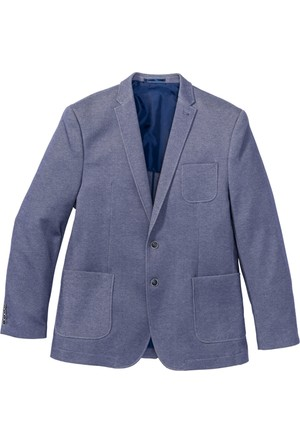 Bpc Selection Erkek Mavi Jarse Ceket Regular Fit
