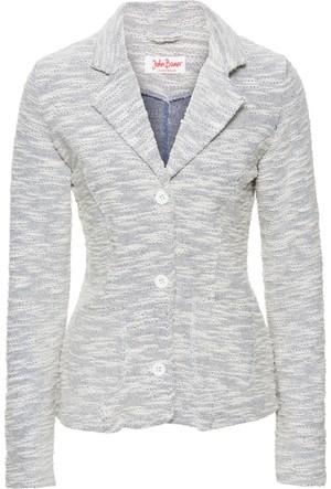 John Baner Jeanswear Kadın Mavi Sweat Blazer Ceket