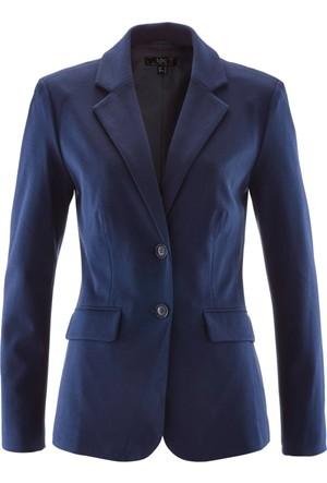 Bpc Bonprix Collection Kadın Mavi Cepli Blazer Ceket
