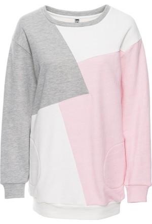 Rainbow Kadın Beyaz Cepli Sweatshirt