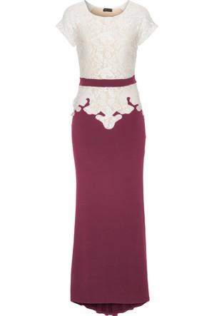 Bodyflirt Boutique Kadın Beyaz Abiye Elbise
