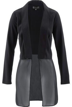 Bpc Selection Kadın Siyah İki Parça Görünümde Ceket