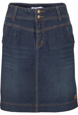 John Baner Jeanswear Kadın Mavi Streç Jean Etek