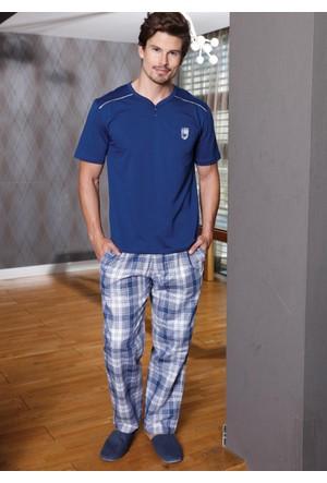 Yeni İnci EPJ620 Erkek 3'lü Kısa Kollu Pijama Set