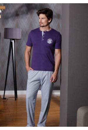 Yeni İnci EPJ622 Erkek 3'lü Kısa Kollu Pijama Set