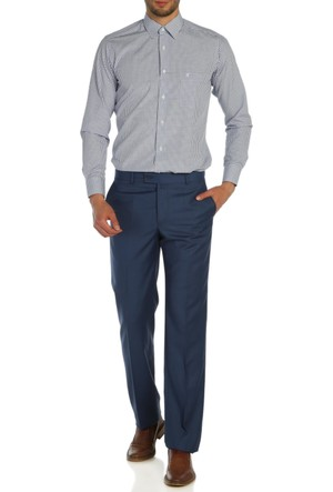 Hateko Klasik Kesim Açık Mavi Kumaş Pantolon