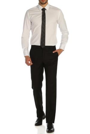 Hateko Klasik Kesim Siyah Kumaş Pantolon