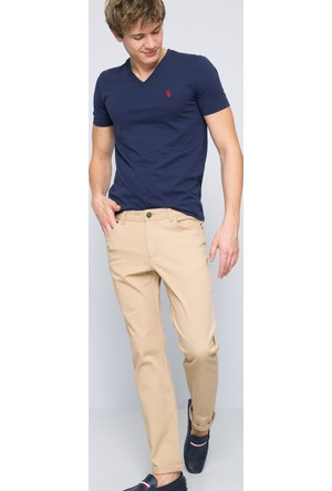 U.S. Polo Assn. Erkek Carlos7Y-Ing Pantolon Bej