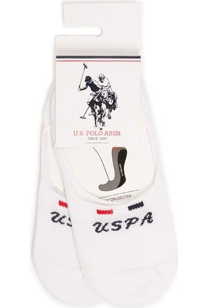 U.S. Polo Assn. Kadın Faliciaiy7 Çorap Beyaz