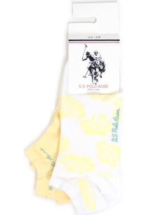 U.S. Polo Assn. Kadın Roma Çorap Sarı