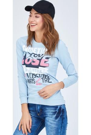 FullaModa Baskılı Sweatshirt 17K17ALAT0044303