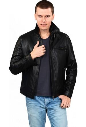 Deriza Dasyt Erkek Deri Ceket