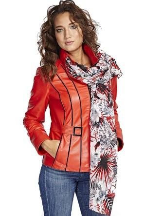 Deriza Renata Kırmızı Deri Ceket