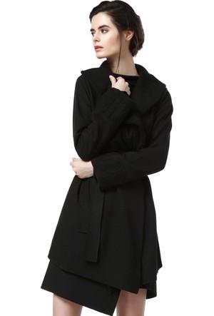 Quincey Kadın Siyah Kaşe Ceket Kb20