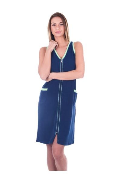 Ayyıldız 59492 Lacivert Fermuarlı Havlu Elbise