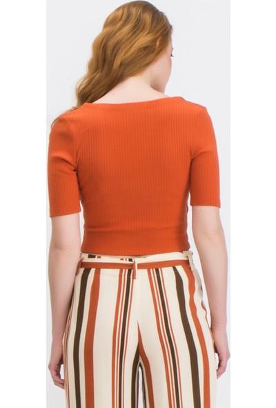 Tiffany&Tomato A3160 Düz Casual Bluz Kısa Kol