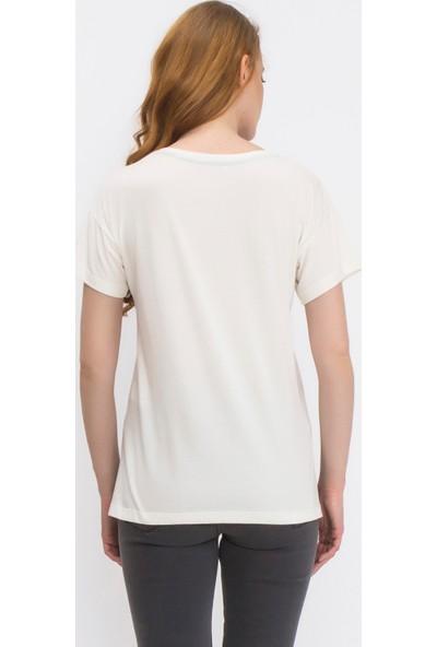 Tiffany&Tomato A3346 Baskılı Casual T-Shirt Kısa Kol