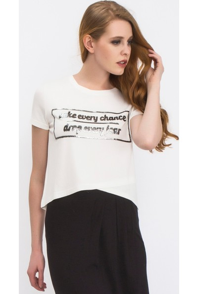 Tiffany&Tomato A3281 Baskılı Casual T-Shirt Kısa Kol
