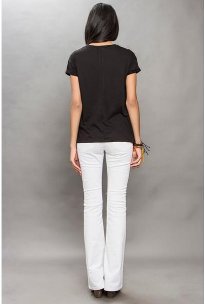 Tiffany&Tomato A3324 Baskılı Casual T-Shirt Kısa Kol