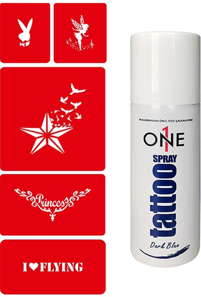 One Spray Tatoo Sprey Kına Geçici Dövme Seti 4