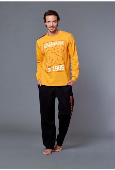 Galatasaray Lisanslı Erkek Pijama Takımı Sarı