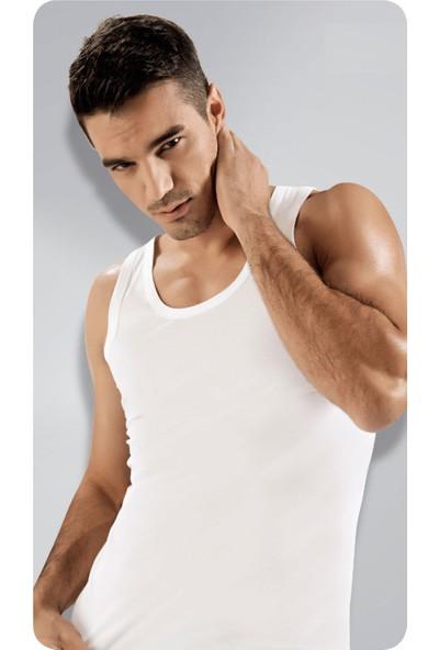 Elif Çamaşır Namaldi 12'Li Paket Klasik Ribana Erkek Atlet Beyaz