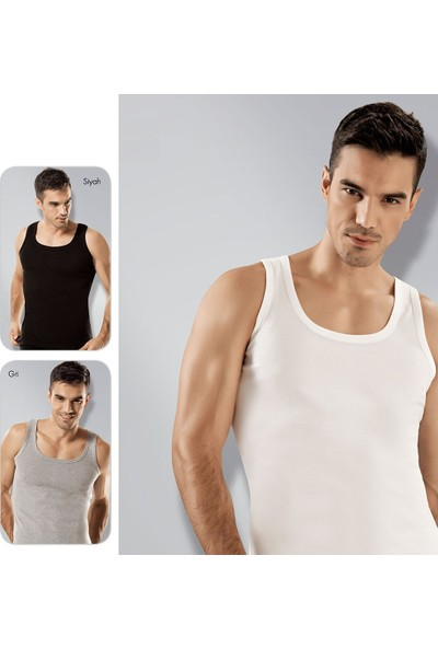 Elif Çamaşır Seher 12'Li Paket Klasik Erkek Atlet Asorti