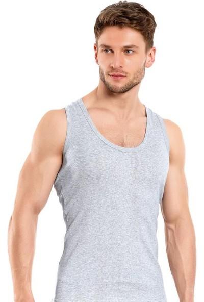 Elif Çamaşır Seher 6'Lı Paket Klasik Erkek Atlet Gri