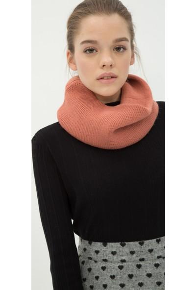 Ole Kadın Düz Atkı Gül Rengi