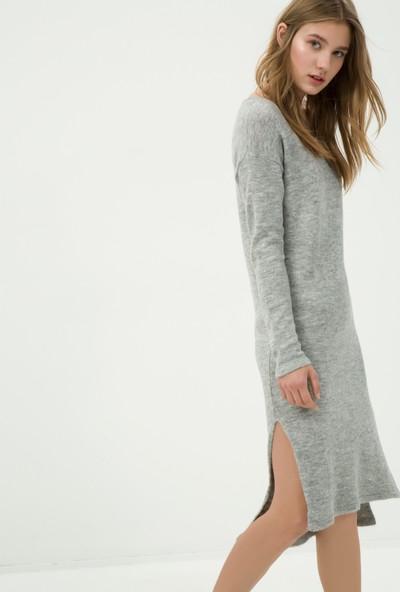 Ole Kadın Düz Elbise Gri