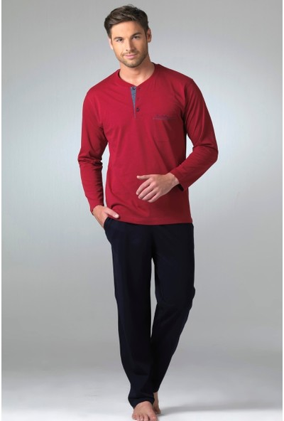 Pierre Cardin 5353 Erkek Uzun Kol Pijama Takım