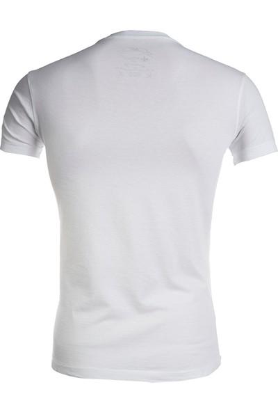 Wgust V Yaka T-Shirt (Beyaz)