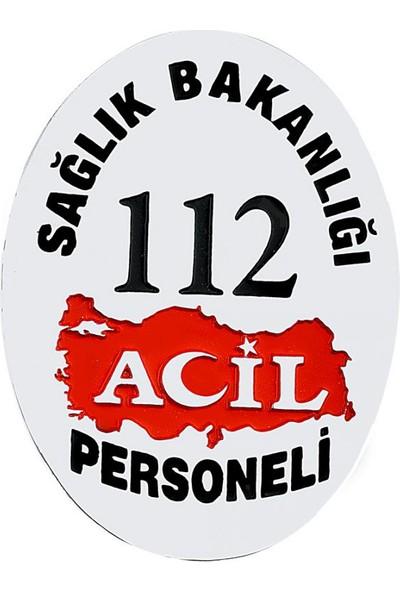 Anı Yüzük Sağlık Bakanlığı 112 Acil Cüzdan Rozeti