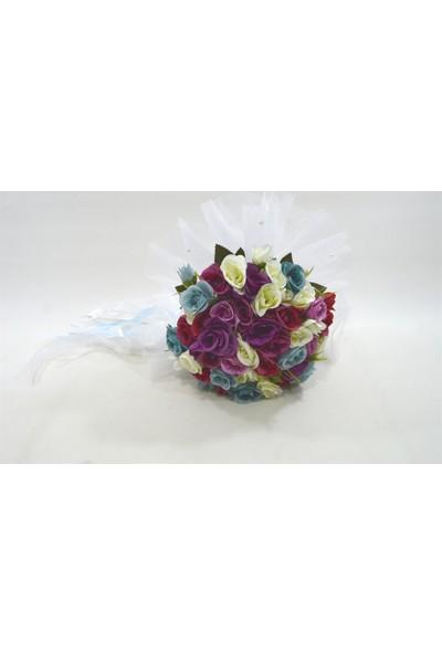Çeyizci Gül Buketi Gelin Tacı Ve Yaka Çiçeği (Özel Tasarım)