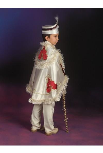 Glory Tekstil Sünnet Kıyafeti Çınar Model Krem Rengi-Bordo