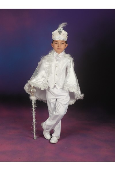 Glory Tekstil Sünnet Kıyafeti Çınar Model Beyaz-Gümüş