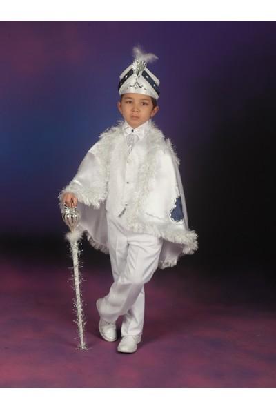 Glory Tekstil Sünnet Kıyafeti Çınar Model Beyaz-Lacivert