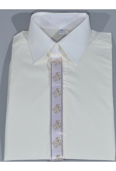 Glory Tekstil Sünnet Gömleği Krem Rengi