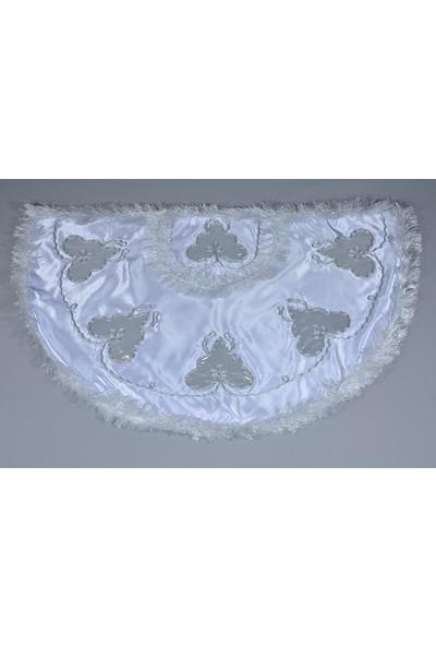 Glory Tekstil Sünnet Pelerini Çınar Model Beyaz-Gümüş