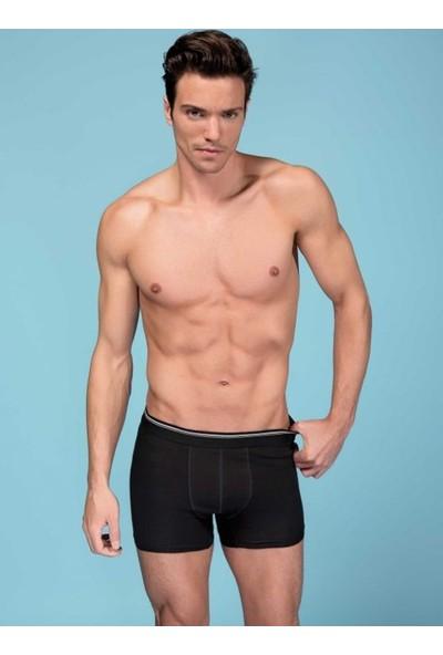 Elif Çamaşır 6'Lı Paket Likralı Pamuk Sedef Erkek Boxer