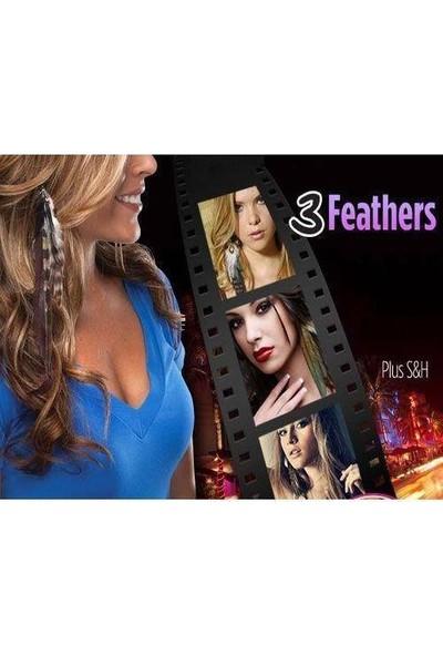 Anka Yeni Trend Tüy Şeklinde Saç Tokası Ve Küpe Snap On Feathers