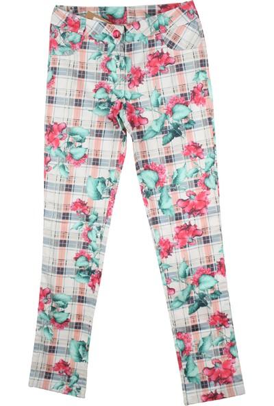 Badi Junior Kız Kareli Pantolon