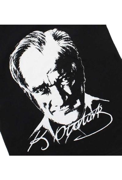 Modakids Unisex Çocuk Atatürk Baskılı Siyah T-Shirt 019-1924-038