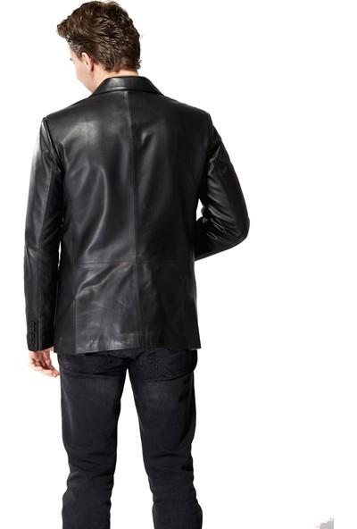 Deriza Morazzi Siyah Deri Ceket