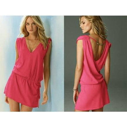 7c5af2185ddb4 Pratik Yeni Trend Şık Yazlık Elbise (Pembe Beden:1) Fiyatı