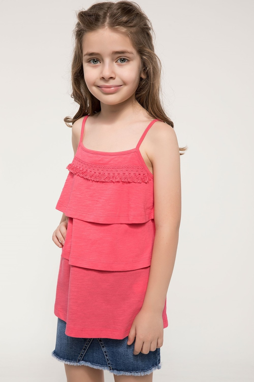 DeFacto Girls Blouse with Ruffles Details