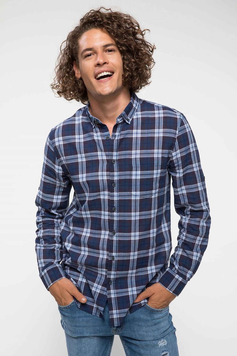 DeFacto Plaid Men's Shirt