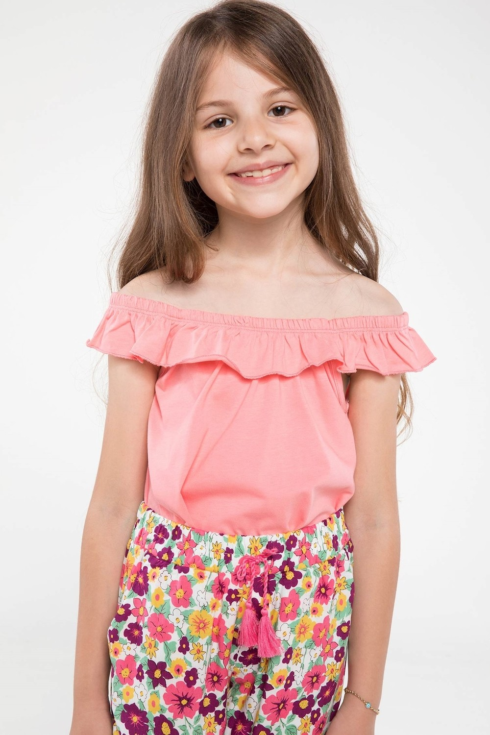 Defacto Kids T-Shirt with Ruffle Details