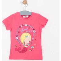 Soobe Kız Çocuk Kısa Kol T-Shirt Pembe